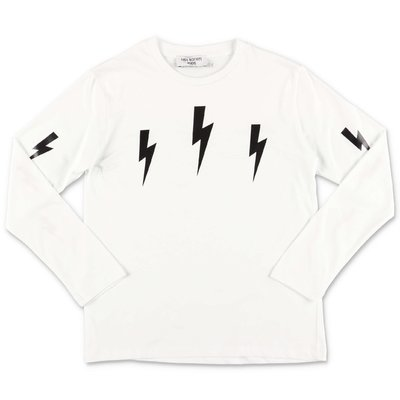 Neil Barrett white cotton jersey t-shirt