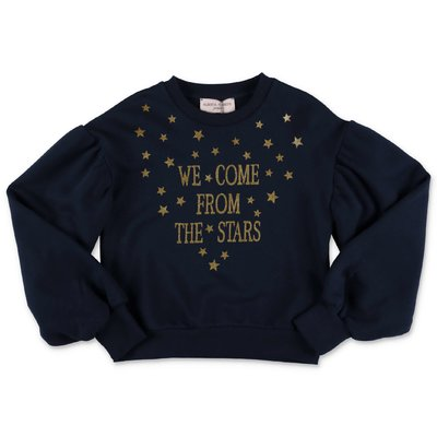 Alberta Ferretti navy blue cotton sweatshirt