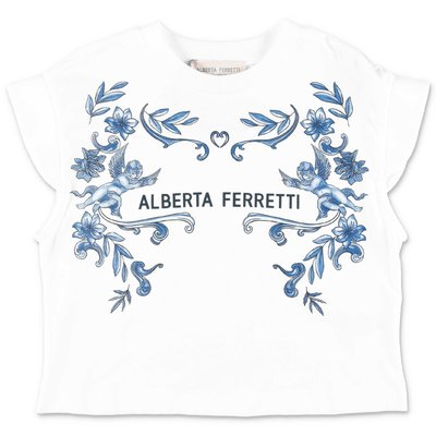 Alberta Ferretti white cotton jersey t-shirt