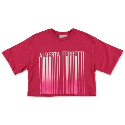 Alberta Ferretti fuchsia cotton jersey t-shirt