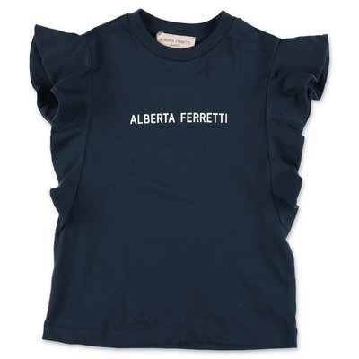 Alberta Ferretti navy blue cotton jersey t-shirt