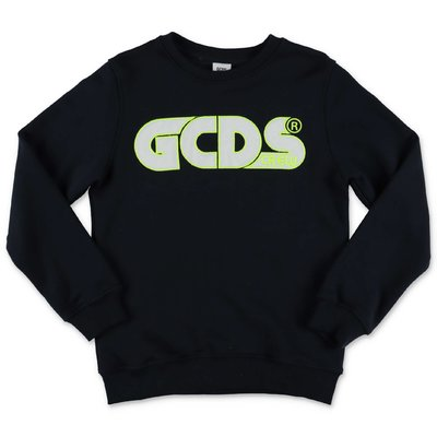 GCDS navy blue cotton sweatshirt
