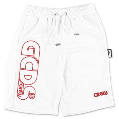 GCDS white nylon shorts