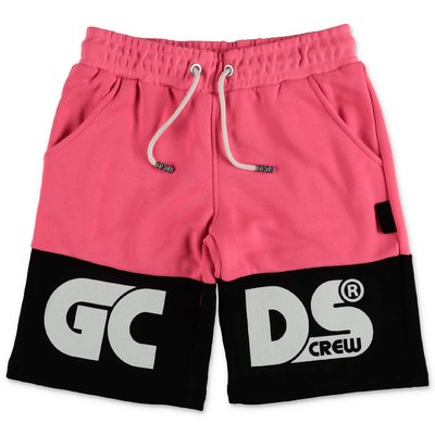 GCDS fuchsia cotton blend shorts