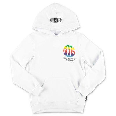 GCDS white cotton hoodie