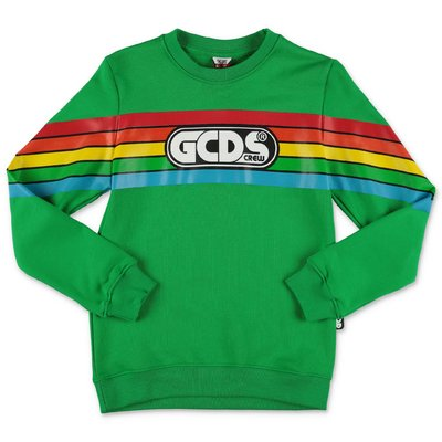 GCDS green cotton sweatshirt