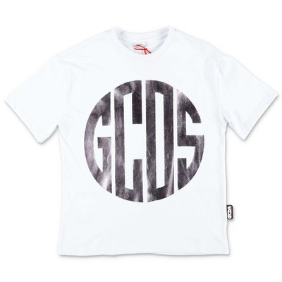 GCDS white cotton jersey t-shirt