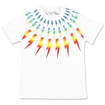 Neil Barrett t-shirt bianca in jersey di cotone