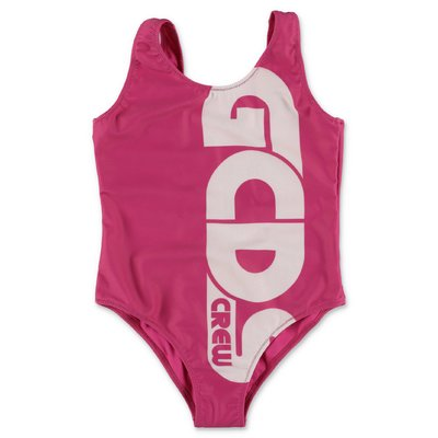GCDS fuchsia lycra one-piece swimsuit