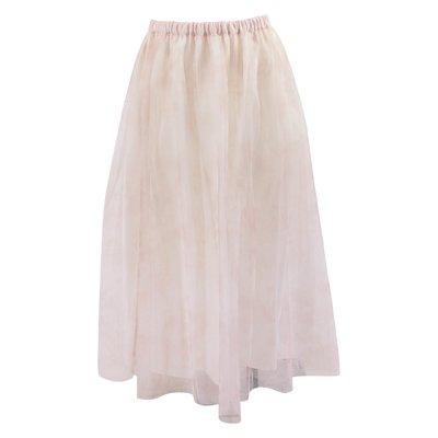 Pink tulle elegant skirt