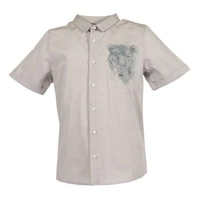 Grey cotton poplin shirt
