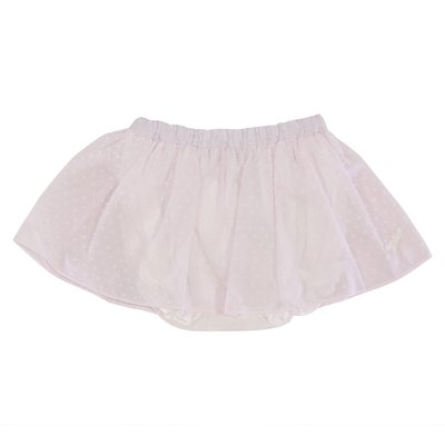 Powder pink cotton muslin skirt