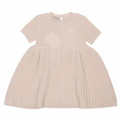 Powder pink wool and cashmere knit dress