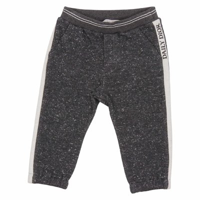 Grey logo detail cotton sweatpants