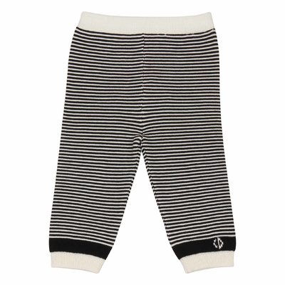 Striped knitted cotton pants