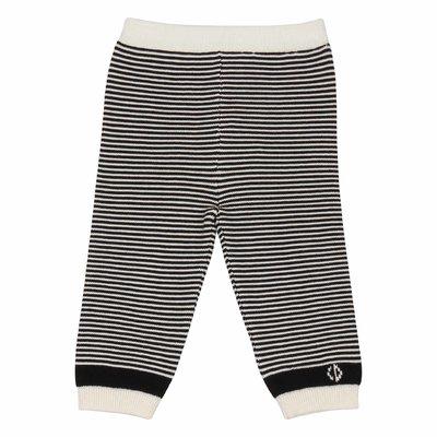 Pantaloni a righe in maglia di cotone