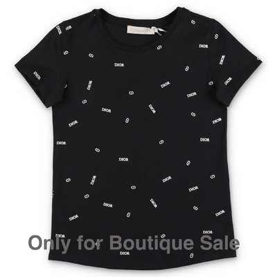 Baby Dior black cotton jersey t-shirt