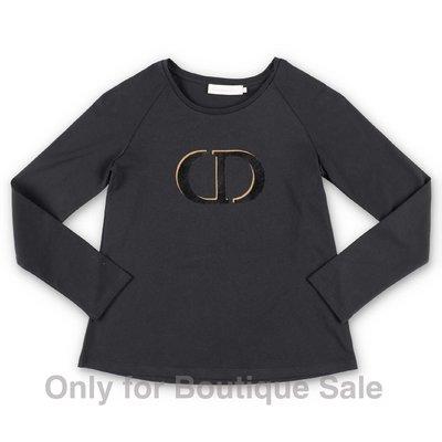 Baby Dior blak logo detail cotton jersey t-shirt