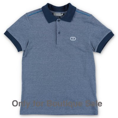 Baby Dior blue cotton piquet polo