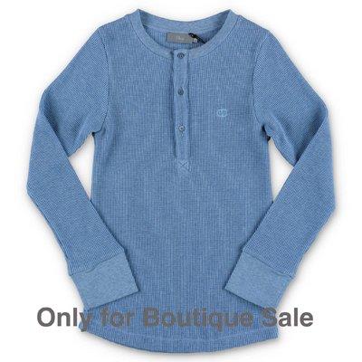 Baby Dior t-shirt azzurra in piquet di cotone