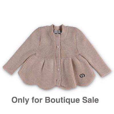 Baby Dior cardigan beige in maglia di lana