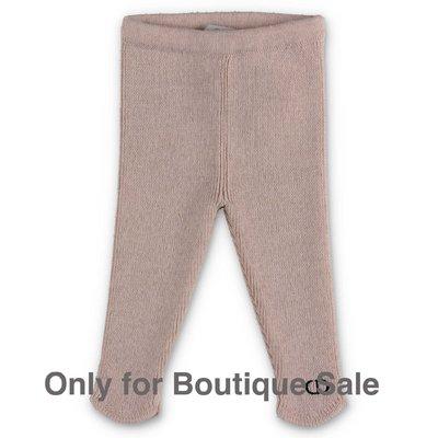Baby Dior pantaloni beige in maglia di lana