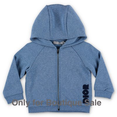 Baby Dior sky blue cotton hoodie