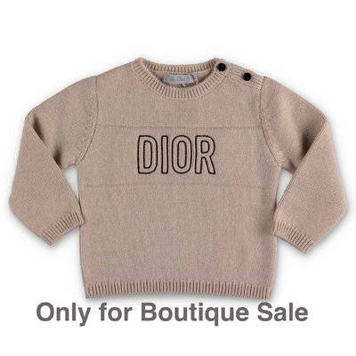 Baby Dior cotton & cashmere knit jumper