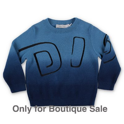 Baby Dior blue cotton & cashmere knit jumper