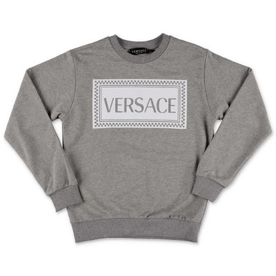 YOUNG VERSACE melange grey cotton sweatshirt