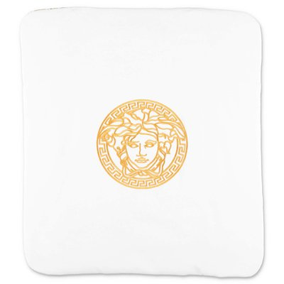 YOUNG VERSACE white cotton jersey blanket