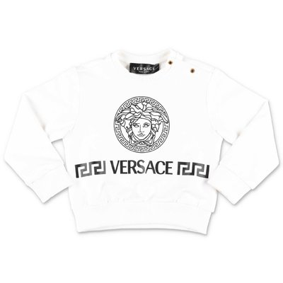 YOUNG VERSACE white cotton jersey sweatshirt