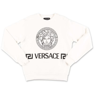 YOUNG VERSACE white cotton sweatshirt