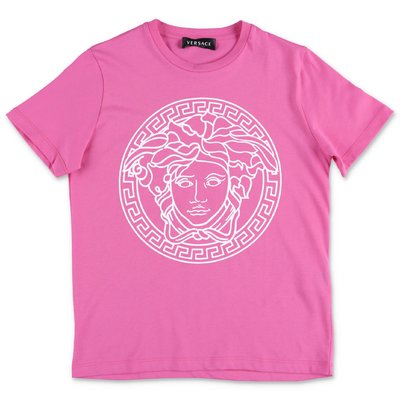 YOUNG VERSACE fuchsia cotton jersey t-shirt
