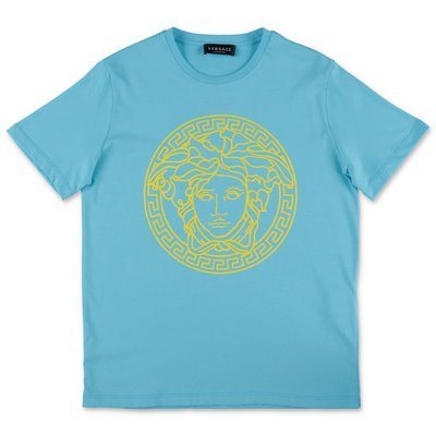 YOUNG VERSACE light blue cotton jersey t-shirt