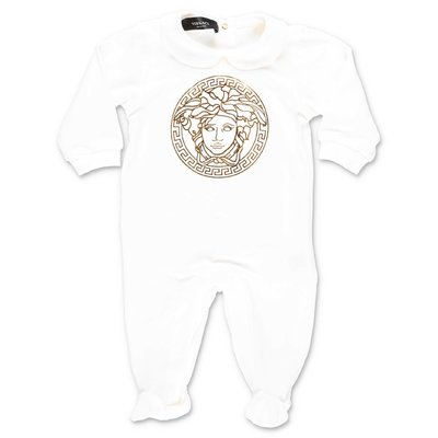 YOUNG VERSACE white cotton jersey romper