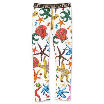 YOUNG VERSACE leggings stampati in lycra