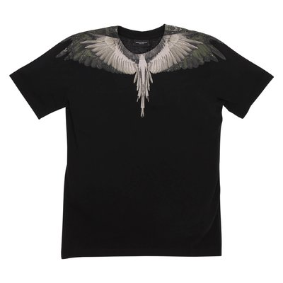 Marcelo Burlon black ''Wings'' cotton jersey t-shirt
