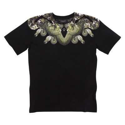 Marcelo Burlon black ''Snake'' cotton jersey t-shirt