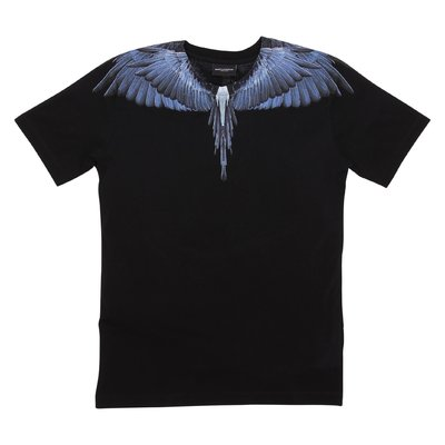 Marcelo Burlon t-shirt nera ''Wings'' in jersey di cotone