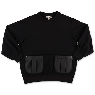 Simonetta black cotton sweatshirt