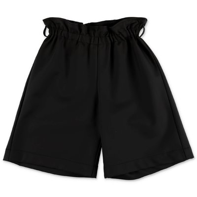 Simonetta black faux leather shorts