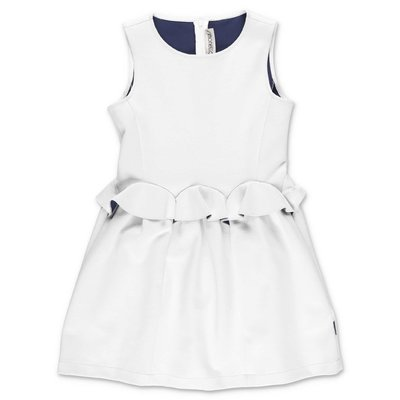 SIMONETTA white stretch jersey dress