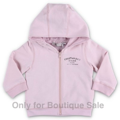 Baby Dior pink cotton hoodie