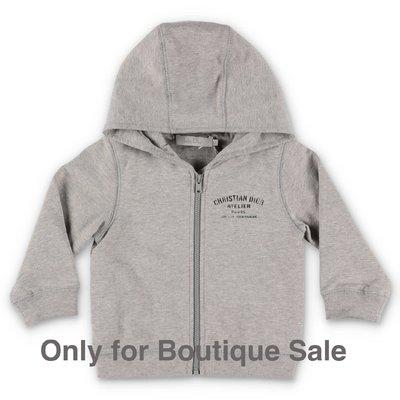 Baby Dior melange grey cotton hoodie