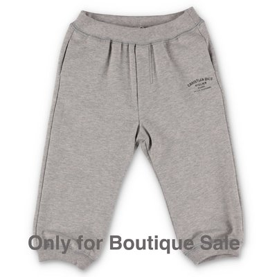 Baby Dior melange grey cotton sweatpants