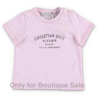Baby Dior pink cotton jersey t-shirt