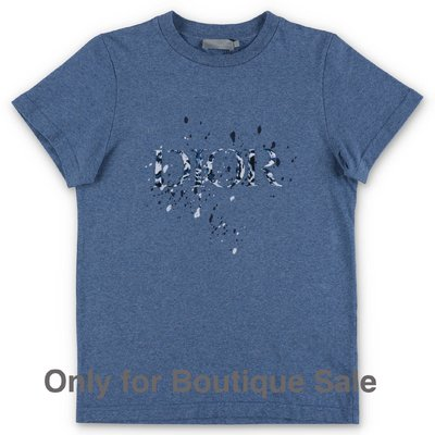 Baby Dior blue cotton jersey t-shirt