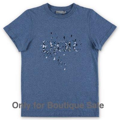 Baby Dior t-shirt blu in jersey di cotone