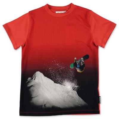 MOLO t-shirt rossa Road in jersey di cotone